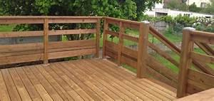Bois Pour Terrasse Extérieure : balustrade en bois pour terrasse exterieure ~ Dailycaller-alerts.com Idées de Décoration