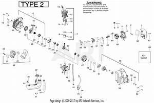 Poulan Ppb335 Gas Trimmer Type 2 Parts Diagram For Engine