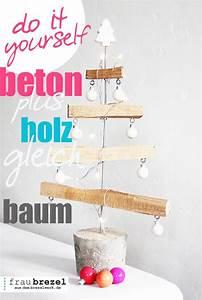 Adventskalender Holz Baum : betonplusholzgleichbaum deko f r weihnachten selber ~ Watch28wear.com Haus und Dekorationen