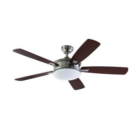 home decorators collection ceiling fan home decorators collection daylesford 52 in led brushed