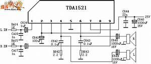 The Tda1521 Common Accompanying Sound Circuit Of Color Tv - Other Circuit