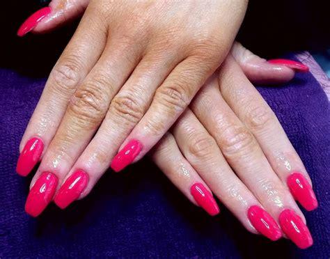 Gel Nail Designs Hot Pink
