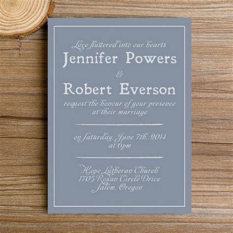simple wedding invitations modern dusty blue simple wedding invitations ewi384 as low as 0 94