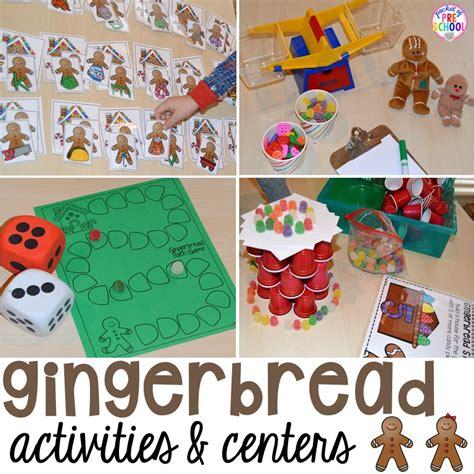 gingerbread centers  activities  gingerbread week
