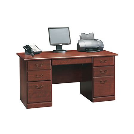 sauder heritage hill executive desk 29 h x 59 12 w x 29 12