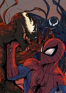 Carnage, Spiderman, Venom by Shadowblackfox on Newgrounds