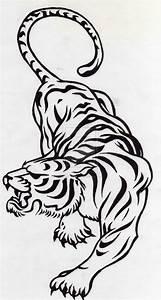 Simple Tribal Tiger Tattoo Designs
