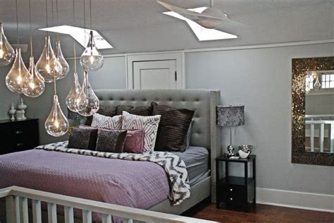 Killer Purple Gray Bedroom Image Gallery In Bedroom Modern