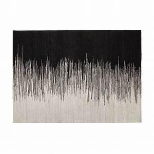 Alinéa Tapis Salon : tapis tiss 140x200cm noir et blanc appache les tapis textiles et tapis salon et salle ~ Preciouscoupons.com Idées de Décoration