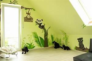 Wandgestaltung Selber Machen : wandgestaltung kinderzimmer dschungel selber machen 9 ~ Lizthompson.info Haus und Dekorationen