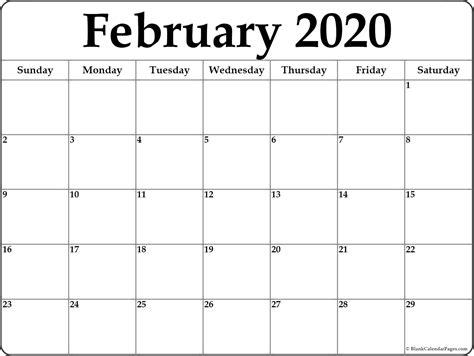 february blank calendar templates