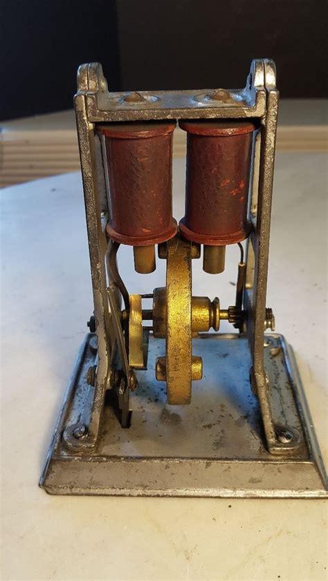 antique   bipolar electric toy motor dc unusual cast