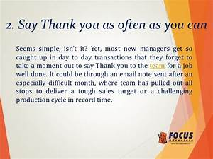 Thank You For A Job Well Done. sample thank you letter to ...