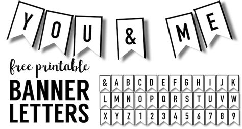 Banner Templates Free Printable Abc Letters  Paper Trail