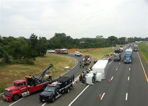 Overturned Truck Snarls Traffic On Route 287  News Tapinto