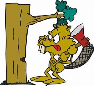Beaver Cutting Down Tree Clip Art at Clker.com - vector ...