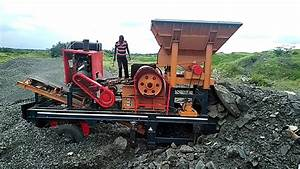 Mj2540 Small Diesel Engine Mobile Stone Crusher Capacity 5