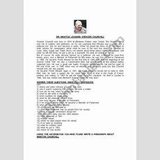 Biography Of Winston Churchill  Esl Worksheet By Bridg58