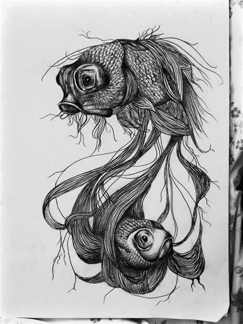 were just 2 lost souls swimming in a fish bowl | Pencil