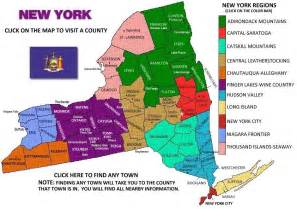 New York State County Map NY