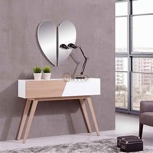 Console Entrée Design : console entr e scandinave miroir coeur ~ Premium-room.com Idées de Décoration