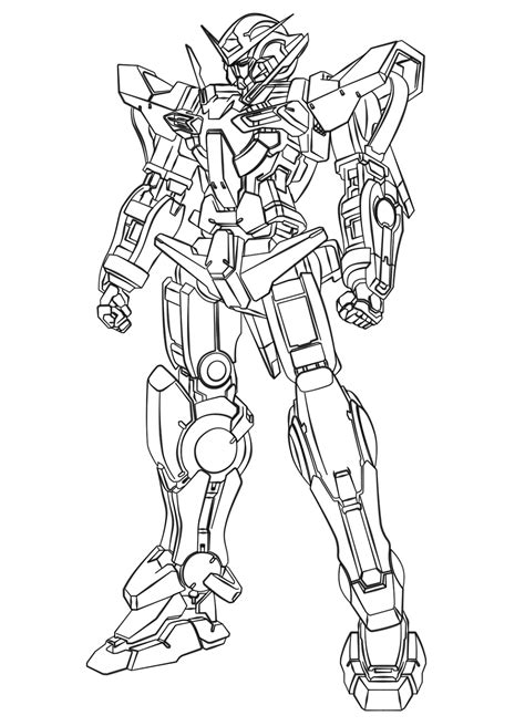 Coloring Gundam by Gundam 00 Free Coloring Pages