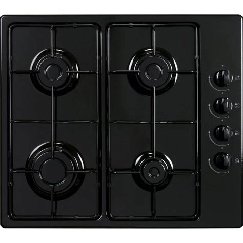 plaque de cuisson gaz plaque de cuisson gaz 4 foyers noir frionor ggnofri 2 leroy merlin