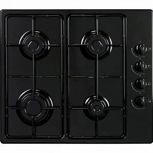 Plaque De Cuisson Gaz Et électrique : plaque de cuisson gaz 4 foyers noir frionor ggnofri 2 ~ Dailycaller-alerts.com Idées de Décoration
