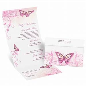 beautiful butterflies seal and send invitation With inexpensive butterfly wedding invitations