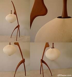 Lampadaire Bois Et Blanc : j rispal lampadaire tripode structure bois de forme ~ Dailycaller-alerts.com Idées de Décoration