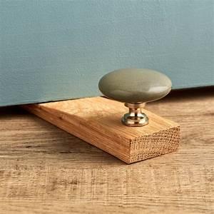 Flat, Grey, Ceramic, Solid, Oak, Wedge, Door, Stops, By, Pushka, Home