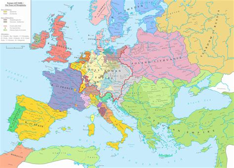 Europe (ad 1648)  The Peace Of Westphalia By