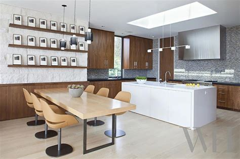 luminaire design cuisine ambiance cosy par le luminaire led dans une cuisine moderne design feria
