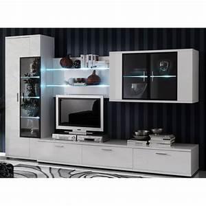 Meuble Salon Blanc : meuble salon bois gris maison design ~ Dode.kayakingforconservation.com Idées de Décoration