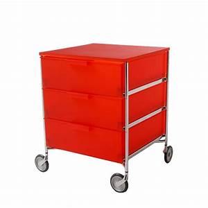 Caisson Rangement Bureau : caisson rangement mobil 3 tiroirs orange de kartell ~ Teatrodelosmanantiales.com Idées de Décoration
