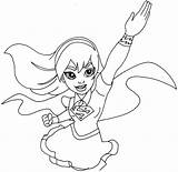 Superhero Coloring Pages Female Printable Getcolorings sketch template