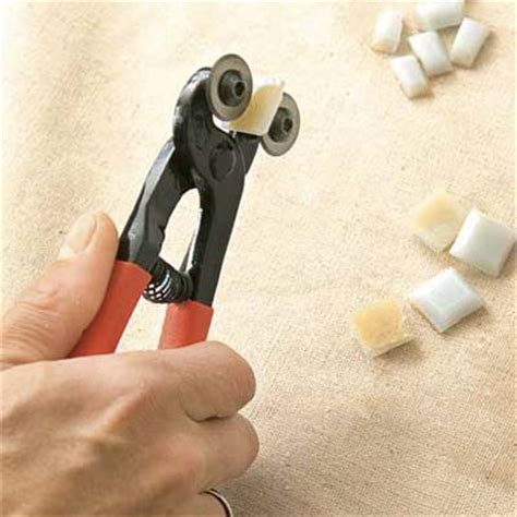 Cut Each Tile   How to Install a Glass Mosaic Tile