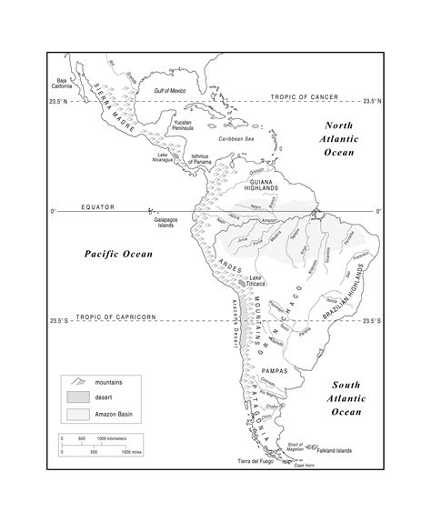 South America Outline Map Blank Map Of America Free