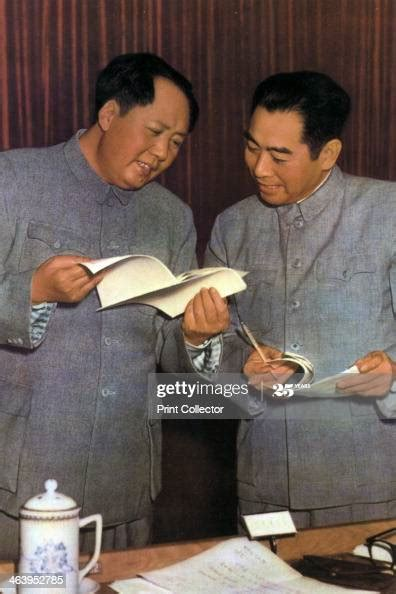 mao zedong  zhou enlai chinese communist leaders