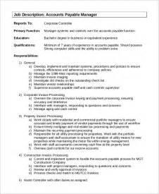 Accounts Payable Coordinator Description Uk by Sle Account Manager Description 7 Exles In Pdf