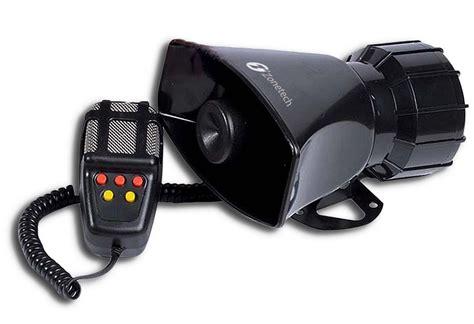 Zone Tech Sound Loud Car Warning Alarm Police Fire Siren