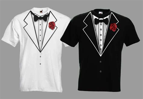 Tuxedo T Shirt Template by Tux Tuxedo Wedding Fancy Dress Stag T Shirt Ebay