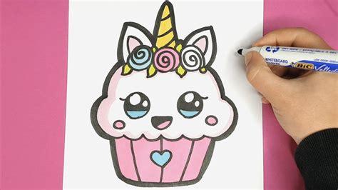 kawaii einhorn cupcake malen kawaii bilder youtube