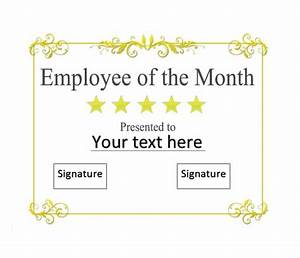 30 printable employee of the month certificates With employee of the month certificate template with picture