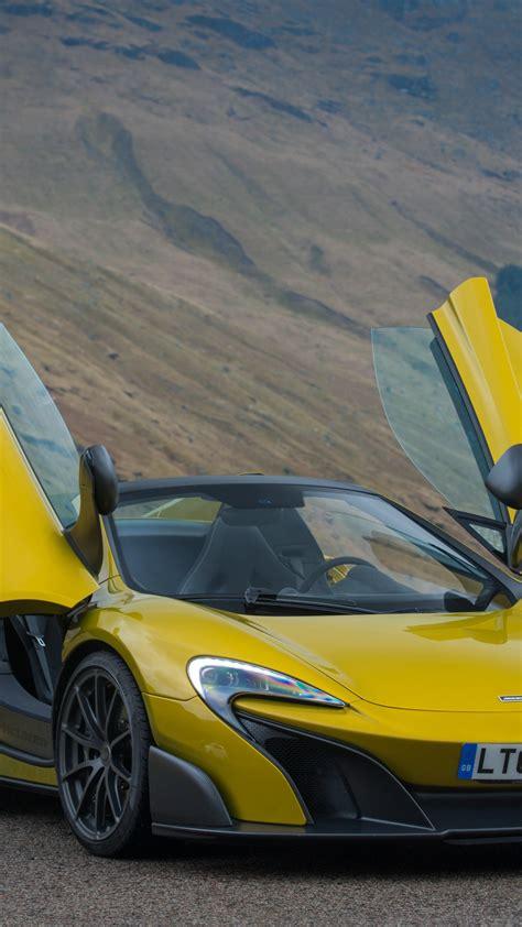wallpaper mclaren lt spider supercar yellow cars