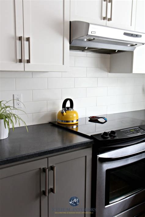 Paint Countertops Black by Black Appliances And White Or Gray Cabinets How To Make