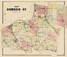 Old County Map - Oswego New York - Stone 1866 - 23 x 26.86 ...
