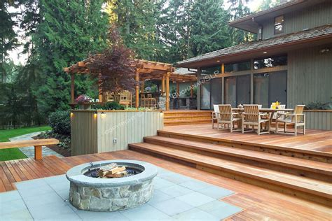 Fire Pit Wood Deck Protection
