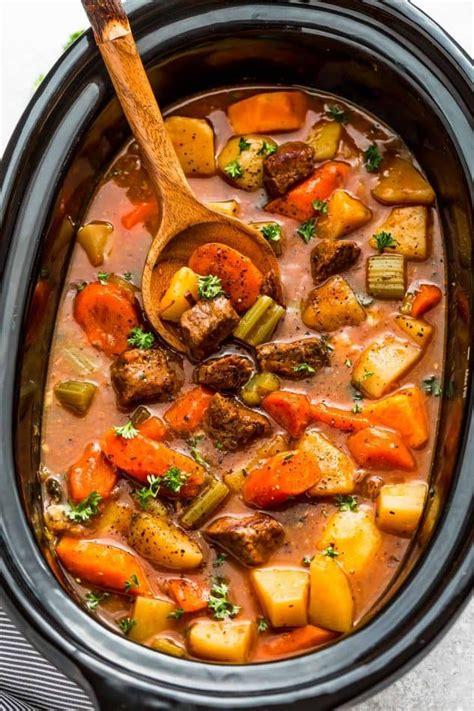 slow cooker beef stew  homemade recipe