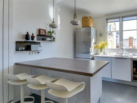 poubelle tri cuisine cuisine moderne avec îlot en épi modèle harmonie